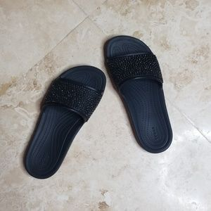 CROCS Black slip on sandals